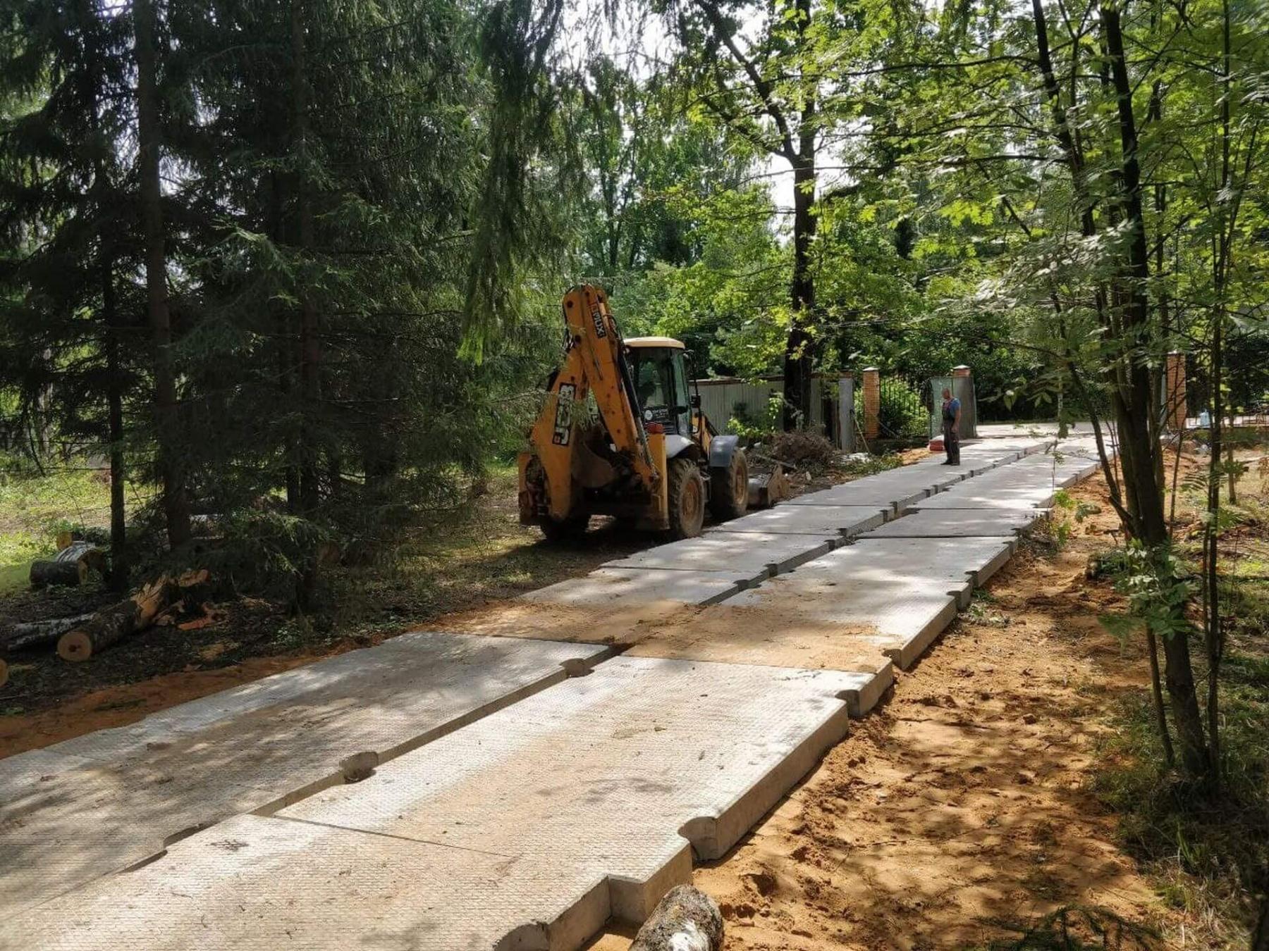 Изготовление подъездных путей к месту строителства дома