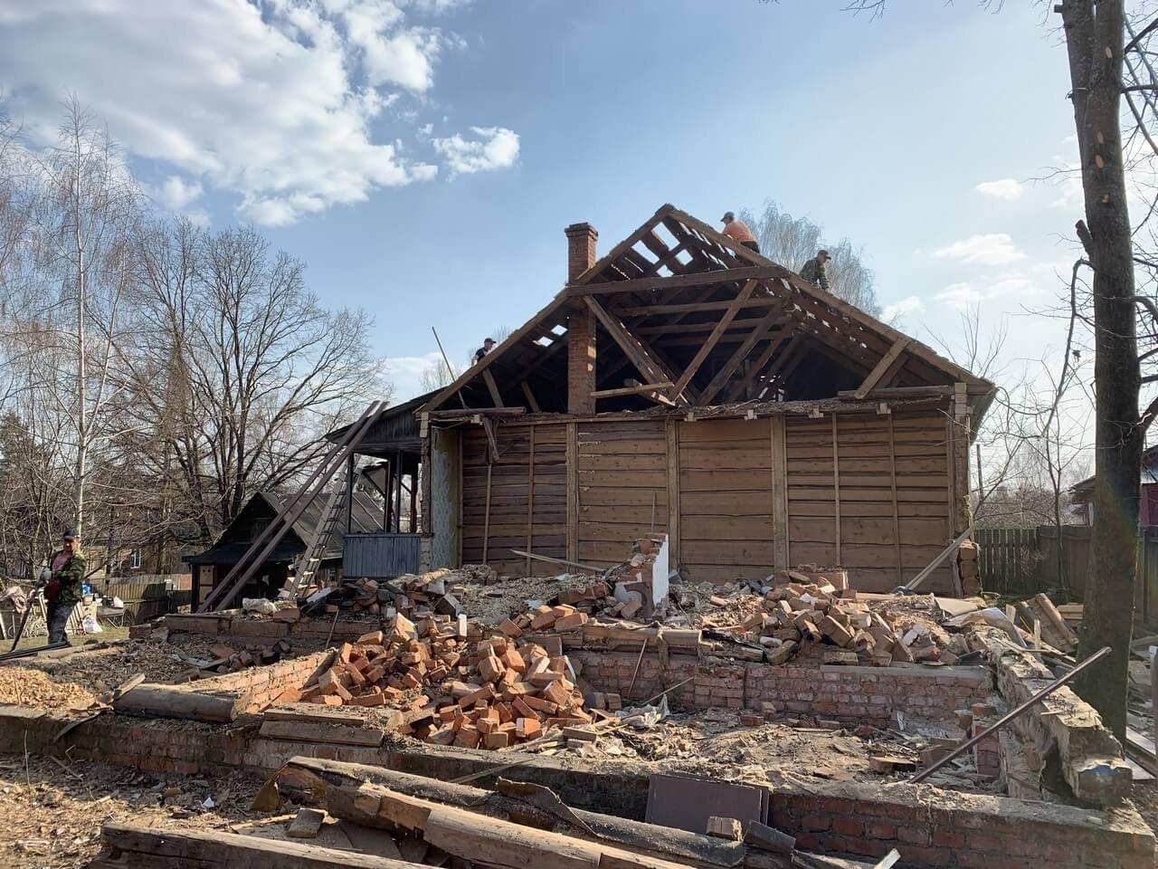 Демонтаж старого строения